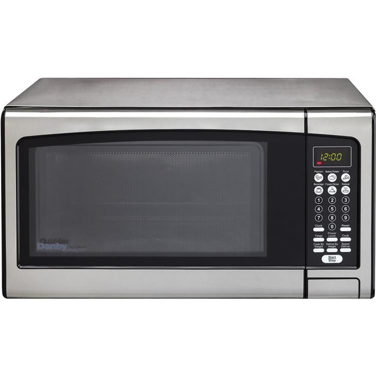 Danby Designer 1.1-Cu. Ft. Countertop Microwave Oven in Stainless Steel
