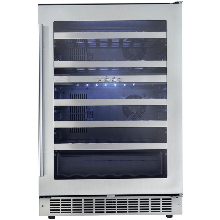 Silhouette Professional 51-Bottle Built-In Dual Zone Wine Cooler