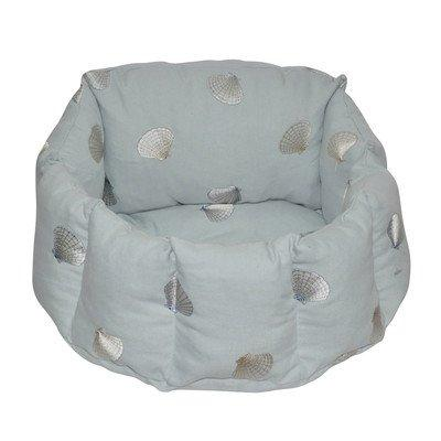 Loom and Mill DB0009 Light Blue Shell Round Pet Bed
