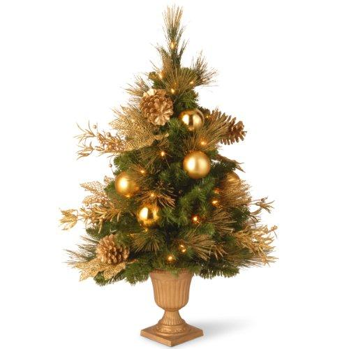 National Tree Decorative Collection Elegance Entrance Tree with Clear Lights