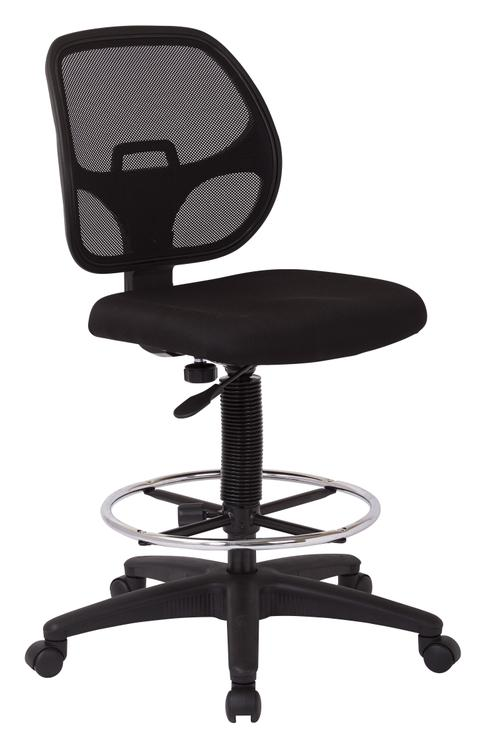 Deluxe Mesh Back Drafting Chair With Diameter Foot Ring