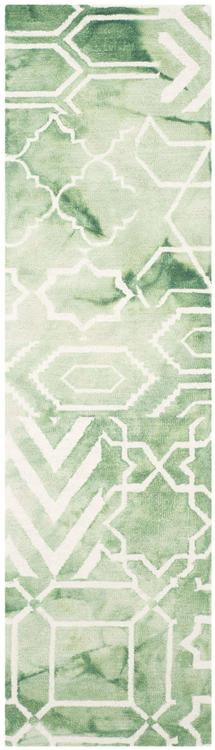Dip Dye Green/Ivory Large Rectangle Rug [Item # DDY678Q-28]