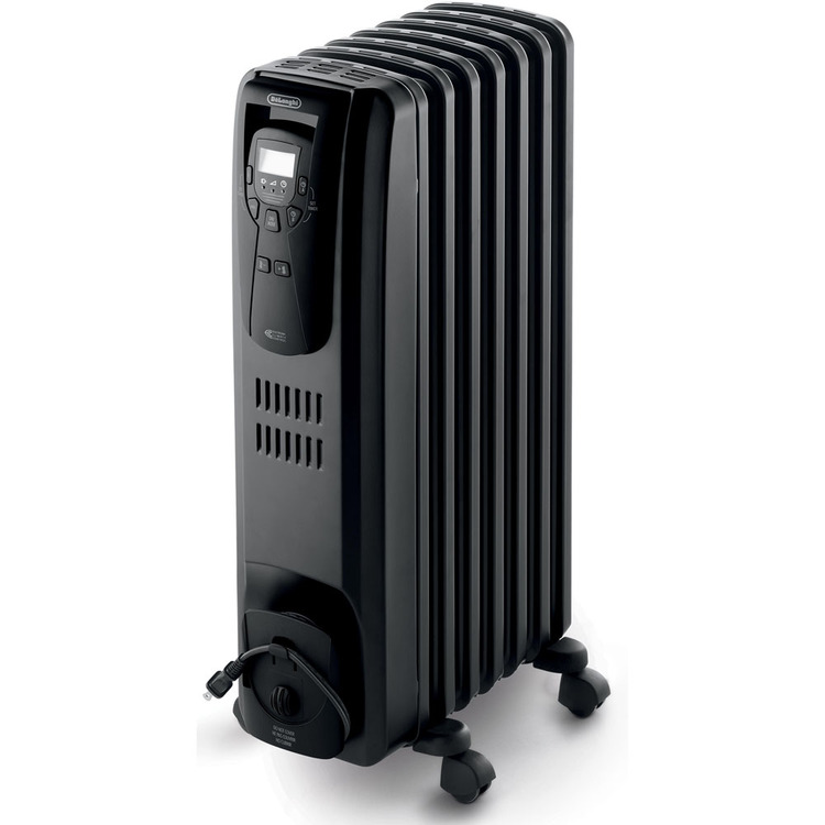 Safeheat 1500W Portable Digital Oil-Filled Radiator in Black