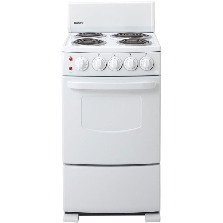 20 In. Electric Range - White
