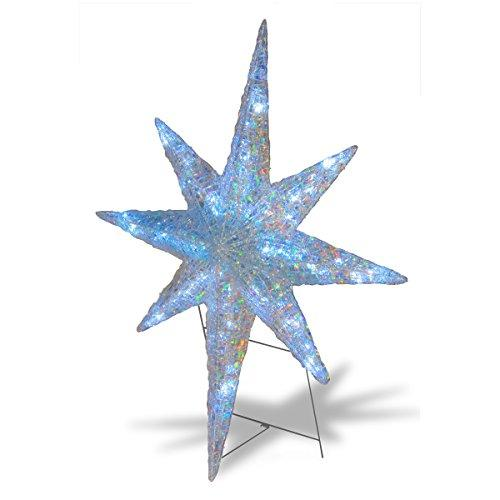 National Tree Ice Crystal Star with LED Lights