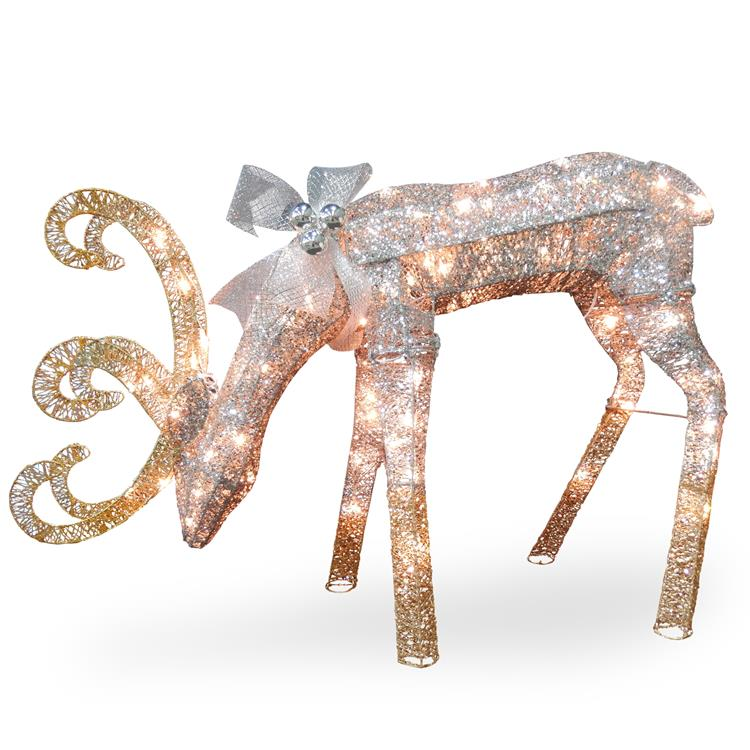 National Tree Reindeer Decoration with LED Lights - [DF-070003U]