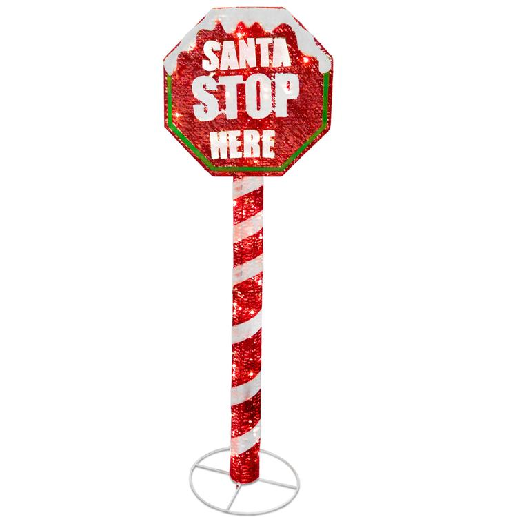 National Tree Stop Sign Decoration with LED Lights