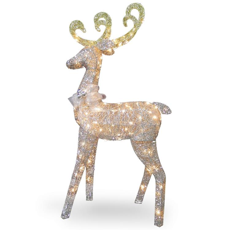 National Tree Reindeer Decoration with LED Lights