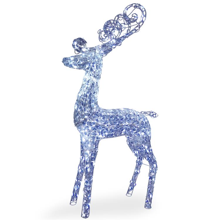 National Tree 60 inch Reindeer Decoration with LED Lights
