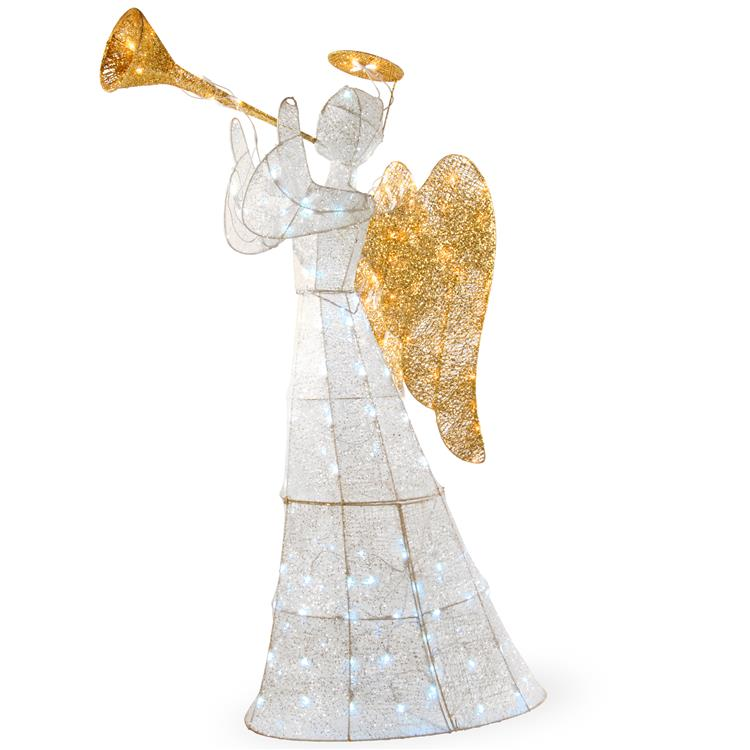 National Tree 60 inch Angel Decoration with LED Lights