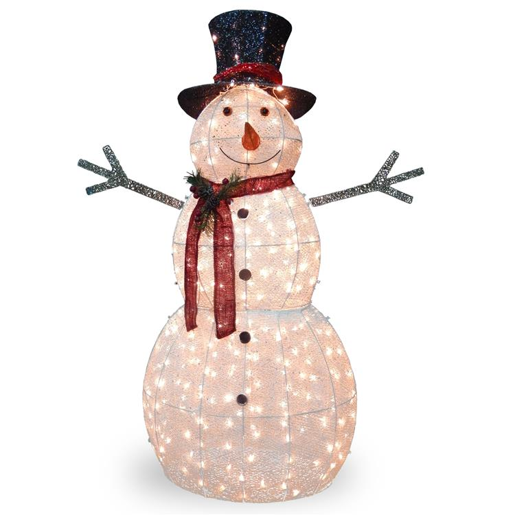 National Tree 60 inch  Snowman Decoration with Warm White LED Lights [Item # DF-300001]