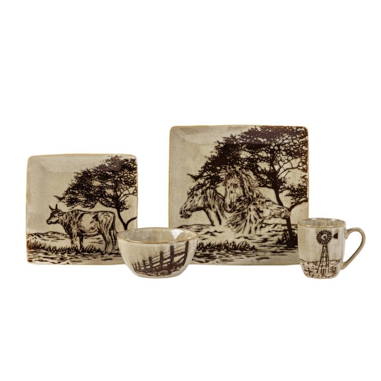 HiEnd Accents 16 PC Jasper Dinnerware Set