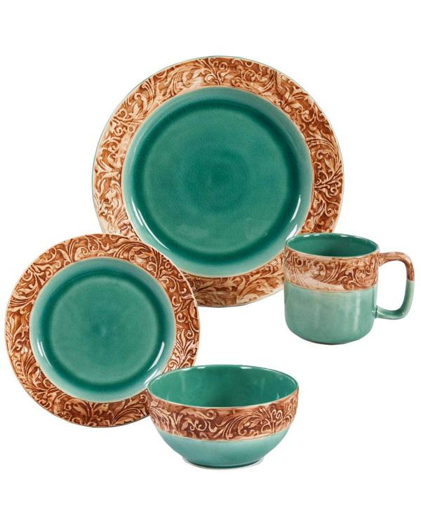 HiEnd Accents 16 PC Wyatt Dinnerware