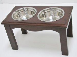 Crown Pet Diner, Large size, with Espresso Finish