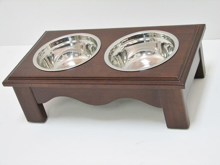 Crown Pet Diner, Small size, with Espresso Finish