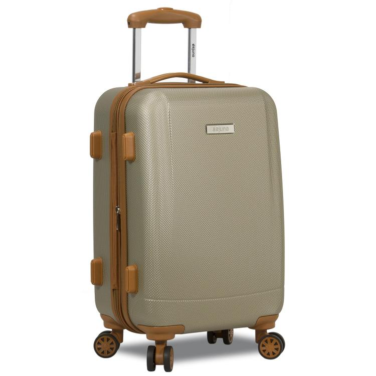 Dejuno Legion Hardside Spinner TSA Combination Lock Carry-on Suitcase - Beige