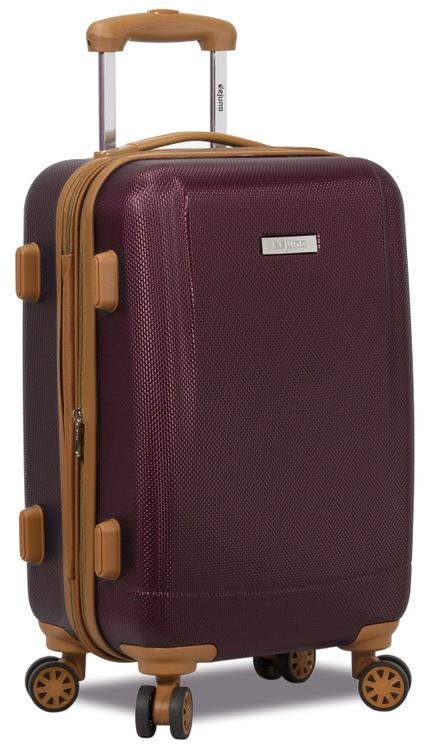 Dejuno Legion Hardside Spinner TSA Combination Lock Carry-on Suitcase - Burgundy