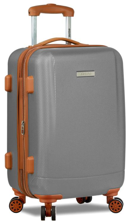 Dejuno Legion Hardside Spinner TSA Combination Lock Carry-on Suitcase - Silver