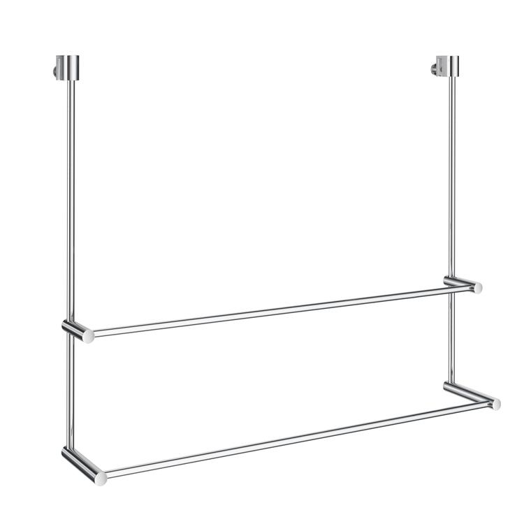 Smedbo NO DRILL DOUBLE TOWEL RAIL FOR SHOWER GLASS