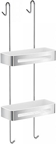 Smedbo SIDELINE SHOWER BASKET DOUBLE STAINLESS STEEL/WHITE ABS