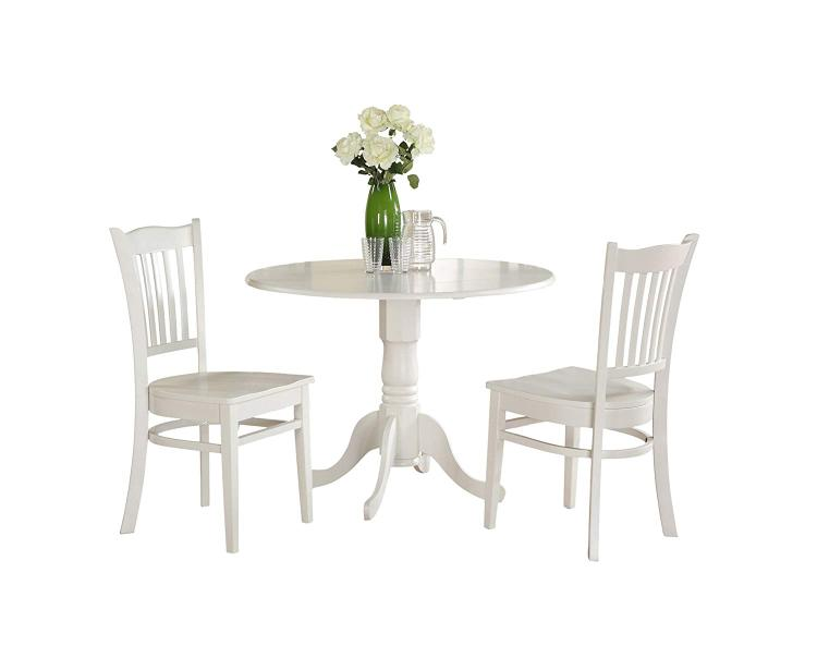East West Furniture Dinette Dining Room Set [Item # DLGR3-WHI-W]
