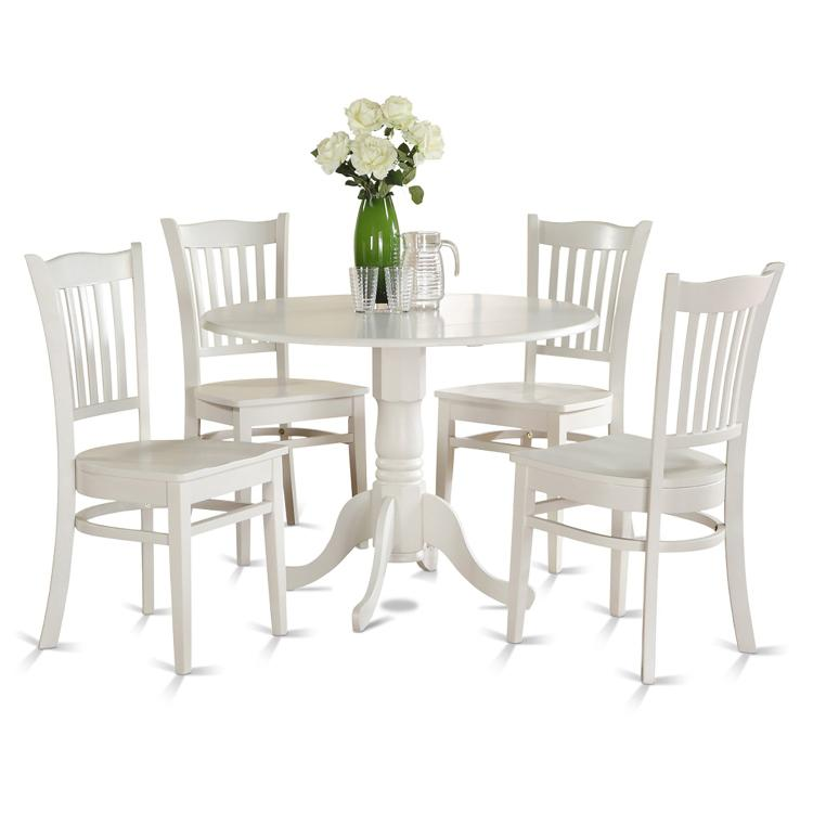 East West Furniture Dinette Dining Room Set [Item # DLGR5-WHI-W]