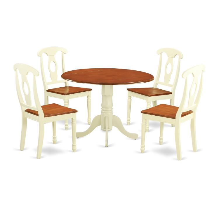 East West Furniture 3-Piece Kitchen Table Set [Item # DLKE5-BMK-W]
