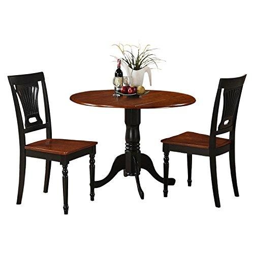 East West Furniture 3 Piece Dining Table and 2 Chairs