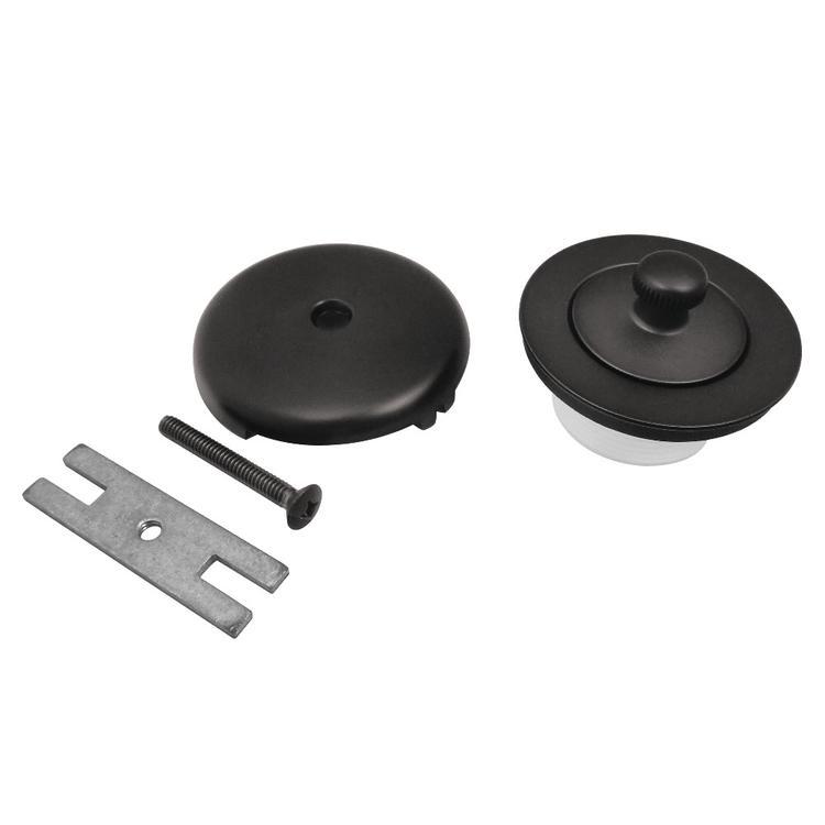 Kingston Brass DLT5301A0 Lift & Turn Tub Drain Kit, Matte Black
