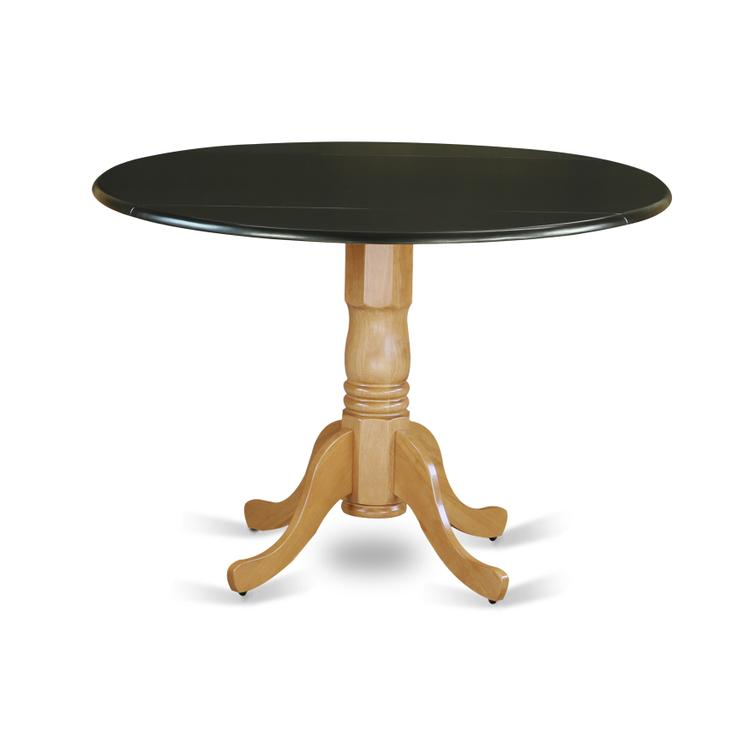 East West Furniture DLT-BOK-TP Dublin Round Table with two 9