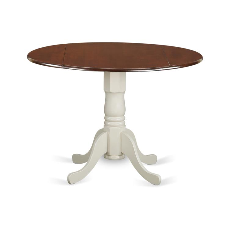 East West Furniture DLT-MLW-TP Dublin Round Table with two 9