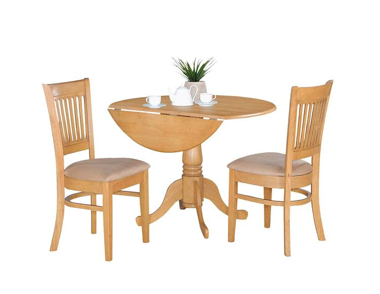 East West Furniture 3-Pc Kitchen Nook Dining Table Set [Item # DLVA3-OAK-C]