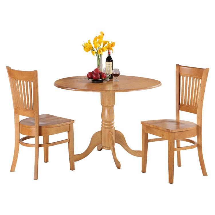 East West Furniture 3-Pc Kitchen Nook Dining Table Set [Item # DLVA3-OAK-W]
