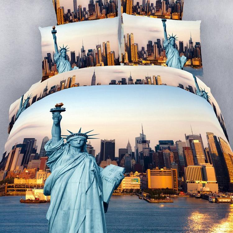 Duvet Cover Sheets Set, Statue of Liberty