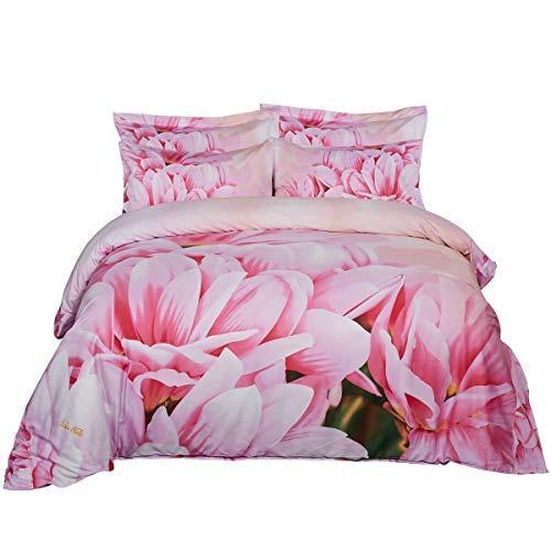 Duvet Cover Set, Queen size Floral Bedding, Dolce Mela - May DM701Q