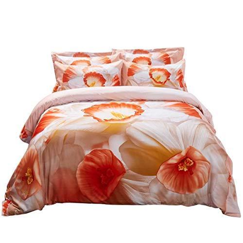 Duvet Cover Set, King size Floral Bedding, Dolce Mela - April DM702K