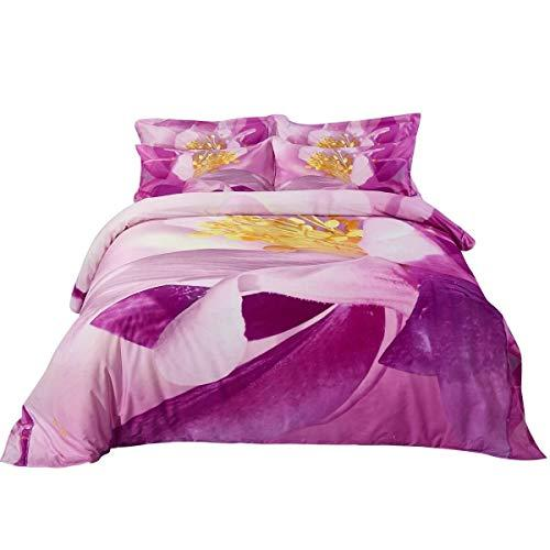 Duvet Cover Set, Queen size Floral Bedding, Dolce Mela - June DM703Q
