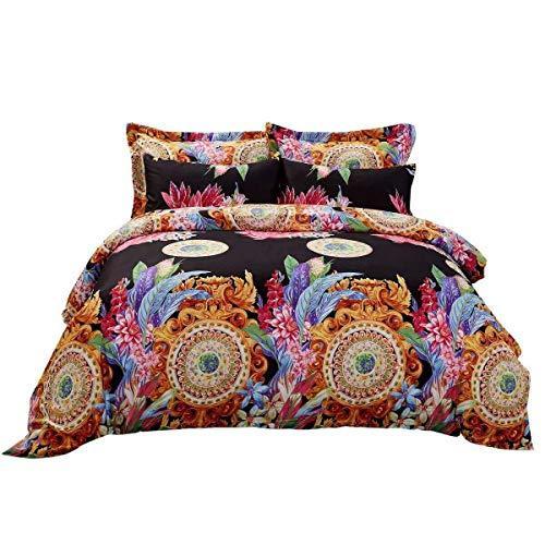 Duvet Cover Set, King size Floral Bedding, Dolce Mela -Ecstasy DM712K