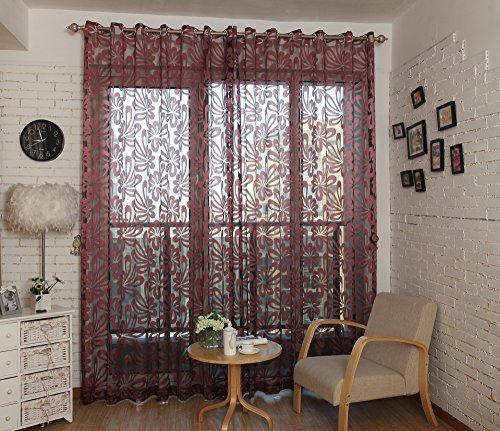 Window Sheer Curtains Panel, Madrid
