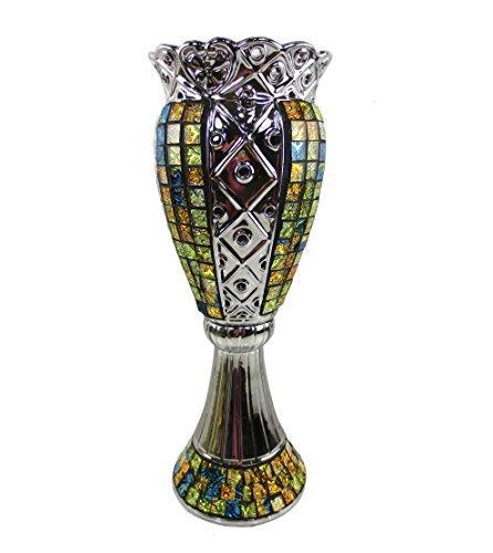 Tall Decorative Ceramic & Glass Vase, 6.5