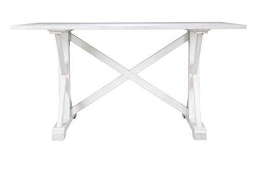 SEI Cardwell Distressed Farmhouse Dining Table
