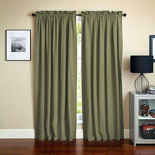 Blazing Needles 84-inch by 52-inch Twill Curtain Panels (Set of 2)