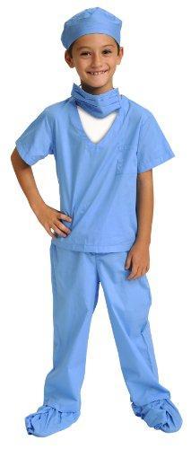 Jr. Dr. Scrubs, size 8/10, Blue
