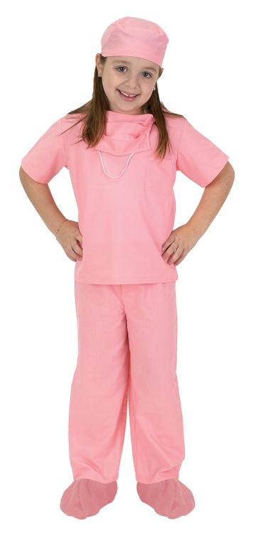 Jr. Dr. Scrubs, size 4/6, Pink