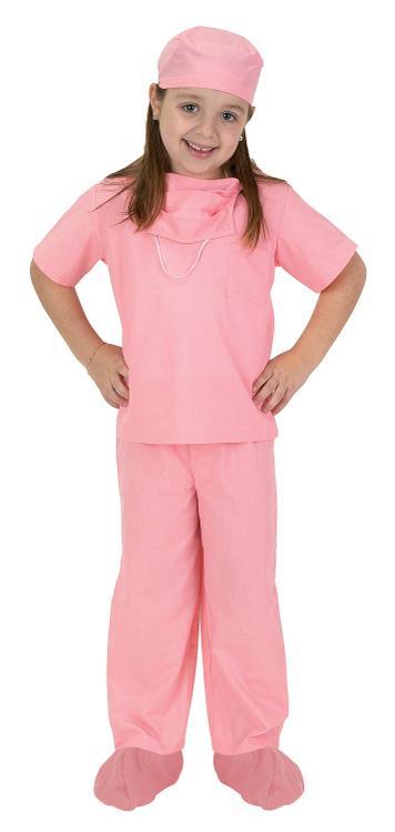 Jr. Dr. Scrubs, size 8/10, Pink