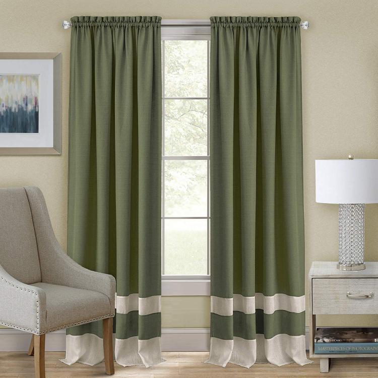 Achim Darcy Window Curtain Valance 58x14- Green/Camel