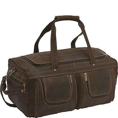 Distressed Leather Duffel [Item # DS-158-Choc]