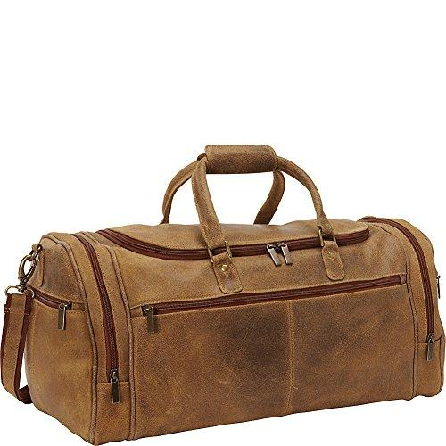 Distressed Leather Overnighter