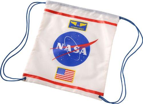 Drawstring Backpack Astronaut, White