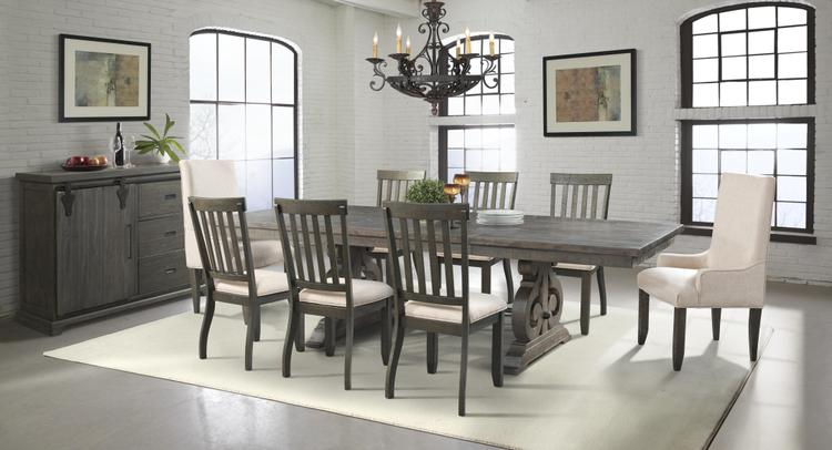 Picket House Furnishings Stanford Dining Set- Table, 6 Side Chairs, 2 Parson Chairs & Server